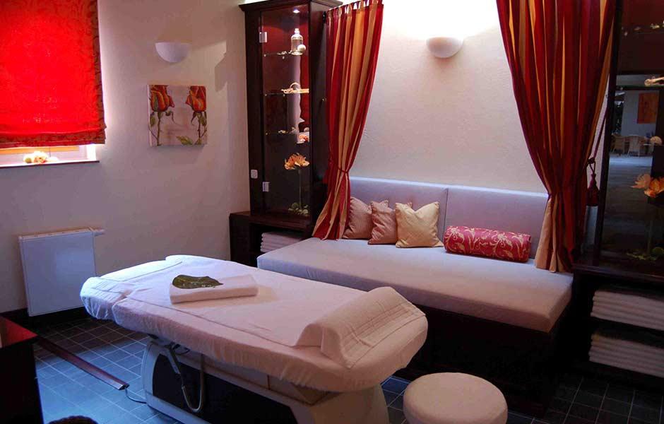 Impression Massage-Raum mit Liege