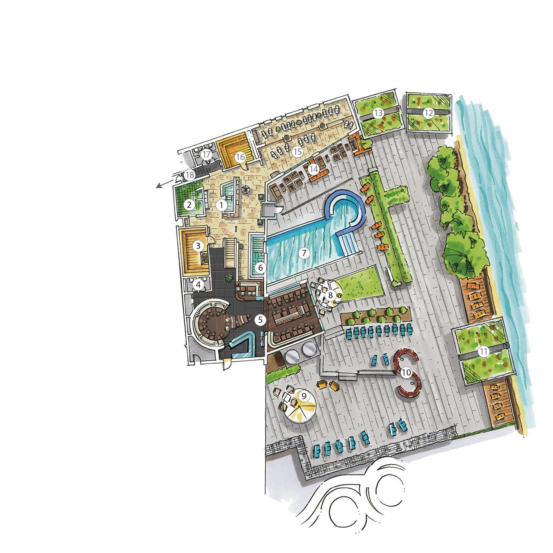 Sauna Lageplan Untergeschoss Außenbereich