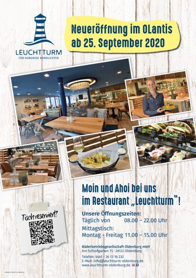 Plakat Eröffnung Restaurant Leuchtturm