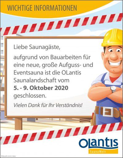 SaunaWelt Bauarbeiten 2020